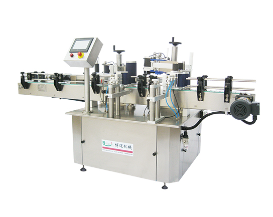Linear cylinder positioning adhesive Labeling Machine