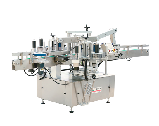 Linear double side self-adhesive labeling machine