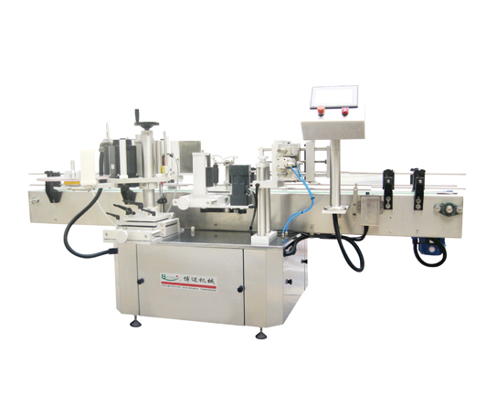 Combined label machine for oil bottle