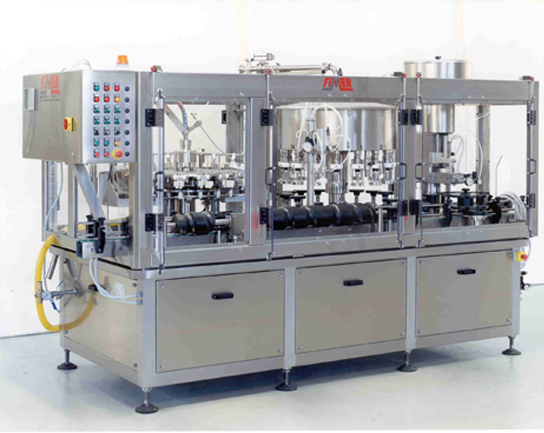 Bottle washing, filling and corking combined equipment