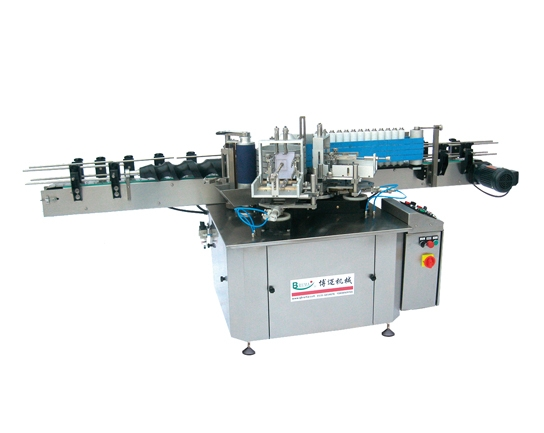 Straight line double label adhesive Labeling Machine
