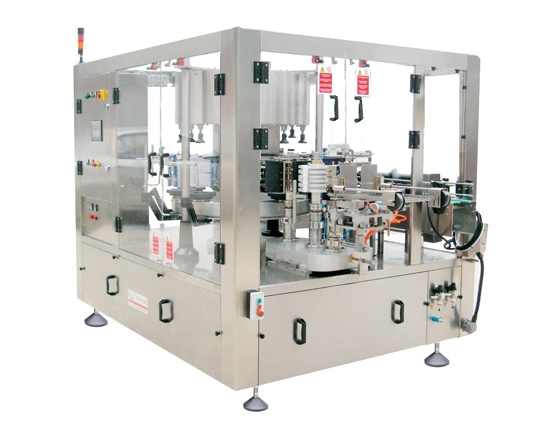 Rotary oil drum paste labeling machine